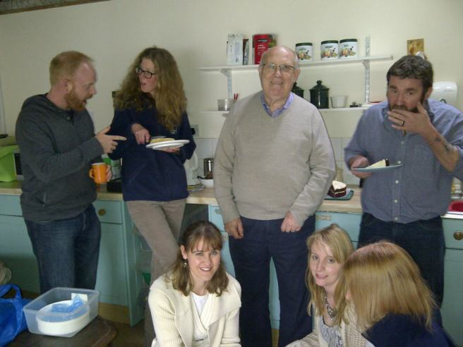 Eamonn, Camilla, Stuart, Paul, Jenny, Claire and Emma