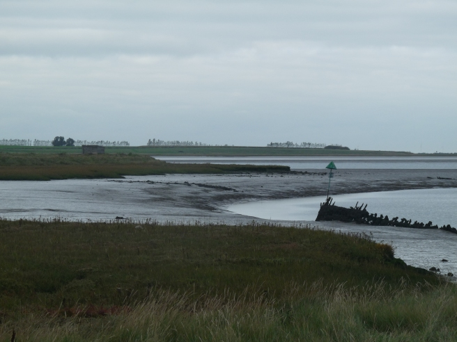 Looking out over Faversham Creek and the Swale at Kent Wildlife Trust's Oare Marshes nature reserve