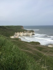 Chalk cliff coastline at Flamborough Head