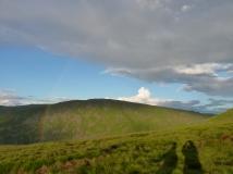A rainbow on the ridge