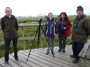 Wildlife Trust staff and volunteers at Foulshaw Moss