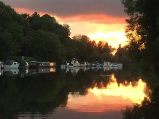 Sunset at Narburn Lock