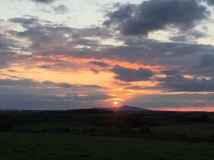 Sunset over Holyhead Mountain, Anglesey