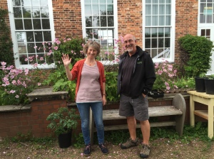 Jan Mckelvey, Conservation Manager and Pete Lambert, River Projects Manager at Shropshire Wildlife Trust