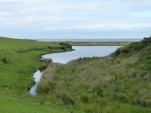 Behind the lagoon at Cemlyn Bay