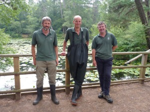 Andrew Warren, Edric Hopkinson and Matt Boydell, from Devon Wildlife Trust