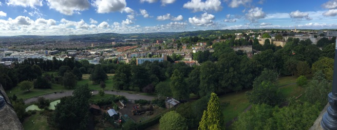 The view across Bristol from the Cabot Tower