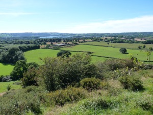 The view from Round Hill towards Chew Valley Lake.